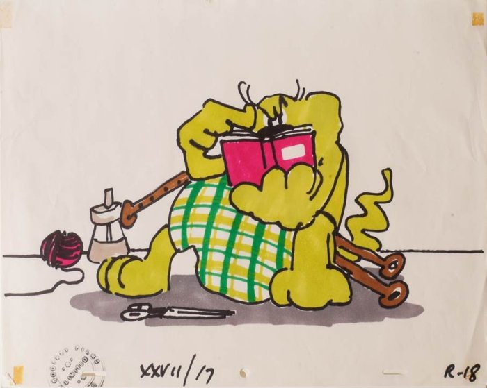 Art from Roobarb: Red Book Adventure (1975)