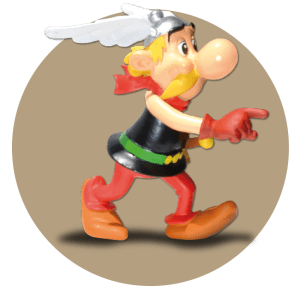 Premium subscribers to the planned Asterix: The Ultimate Collection would also receive additional items such as this Asterix figure