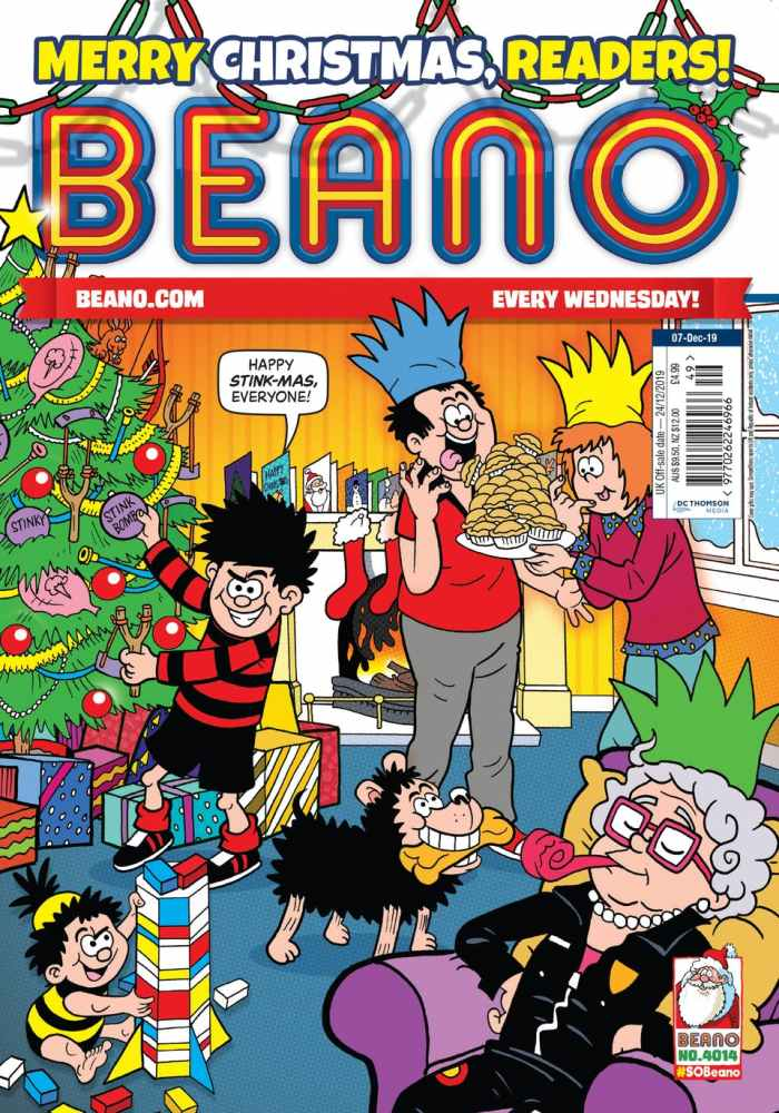 The Christmas issue of Beano - Issue 4014 - is on sale now