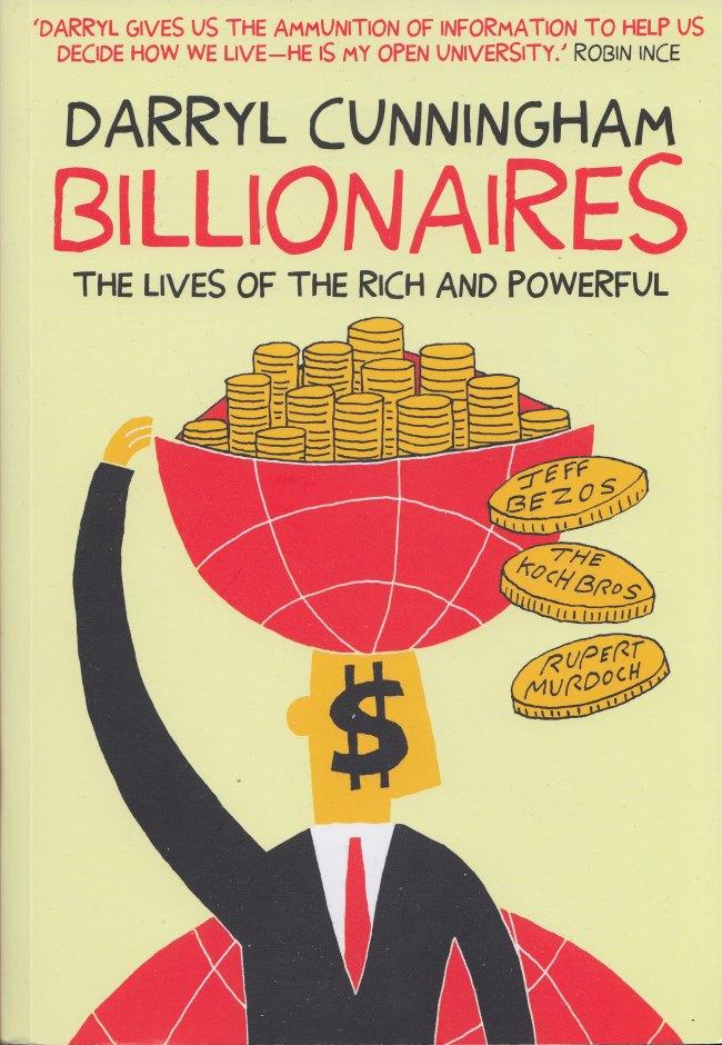 Billionaires by Darryl Cunningham Myriad Editions Cover