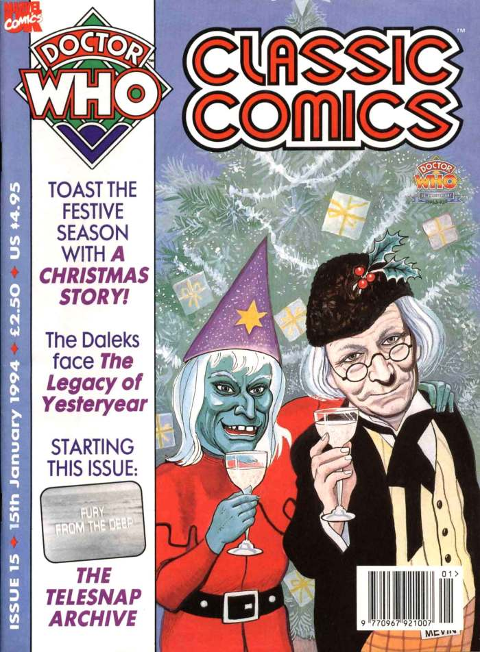 Doctor Who Classic Comics Issue 15 - cover by Bill Mevin