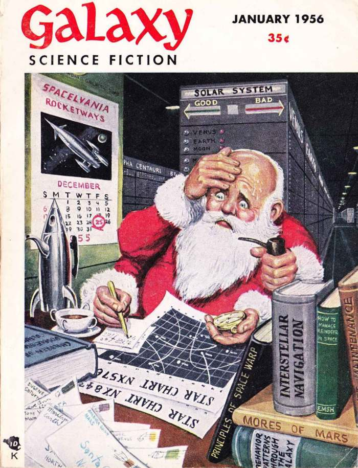 Galaxy Magazine, cover dated January 1956