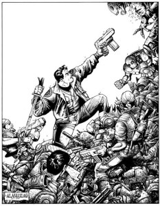 Humanis Rex! Pencils and Inks by Gerry Alanguilan, published in Fudge Magazine in 2005