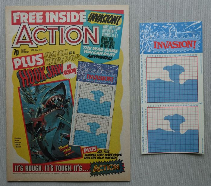 Action Issue 16, cover dated 29th May 1976, with free Invasion Game gift