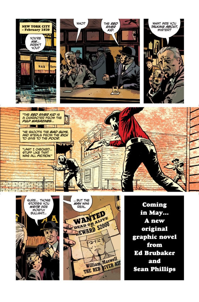 PULP by Ed Brubaker and Sean Phillips - Special Trailer Page 1