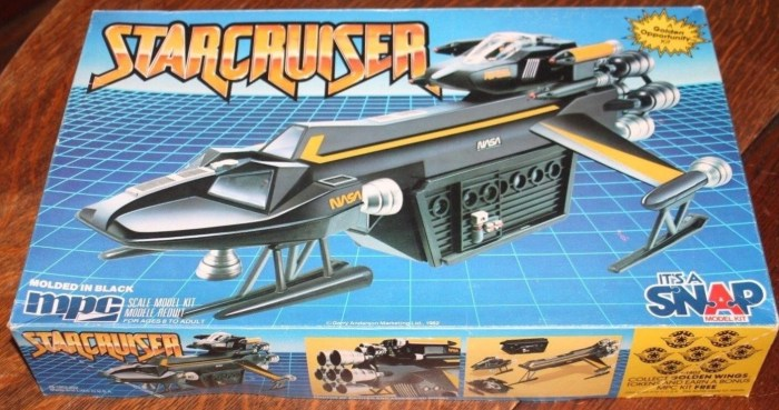 The NASA version of the Gerry Anderson Starcruiser kit, released in the United States