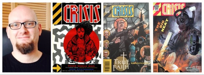 Dr William Proctor, Senior Lecturer in Transmedia, Culture and Communication at Bournemouth University and CRISIS comic covers