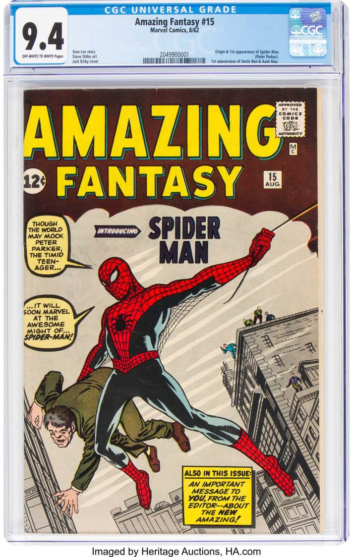 Amazing Fantasy #15 -Spider-Man - CGC grade of 9.4