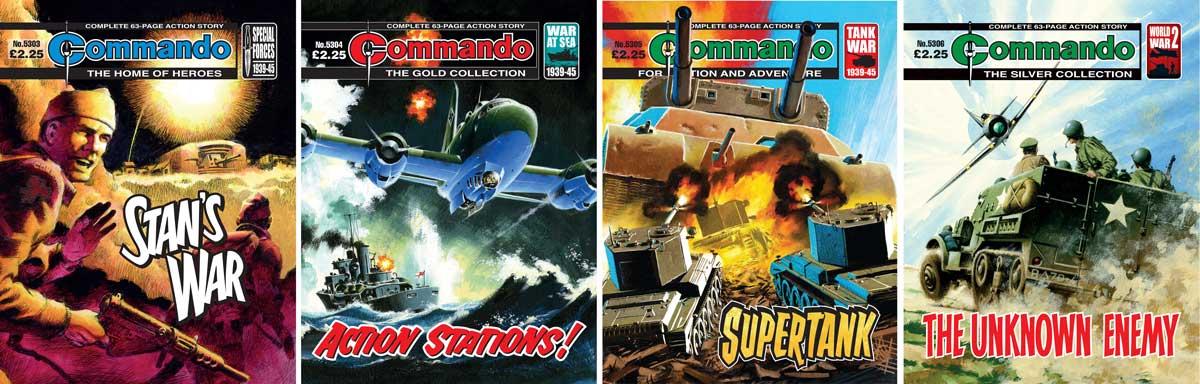 New Commando comics deliver a triple bill of Ian Kennedy covers