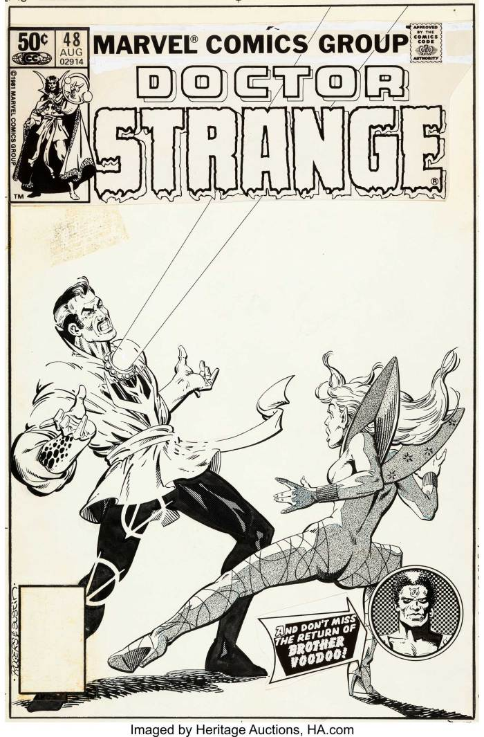 Marshall Rogers and Terry Austin Doctor Strange #48 Cover Original Art (Marvel, 1981)