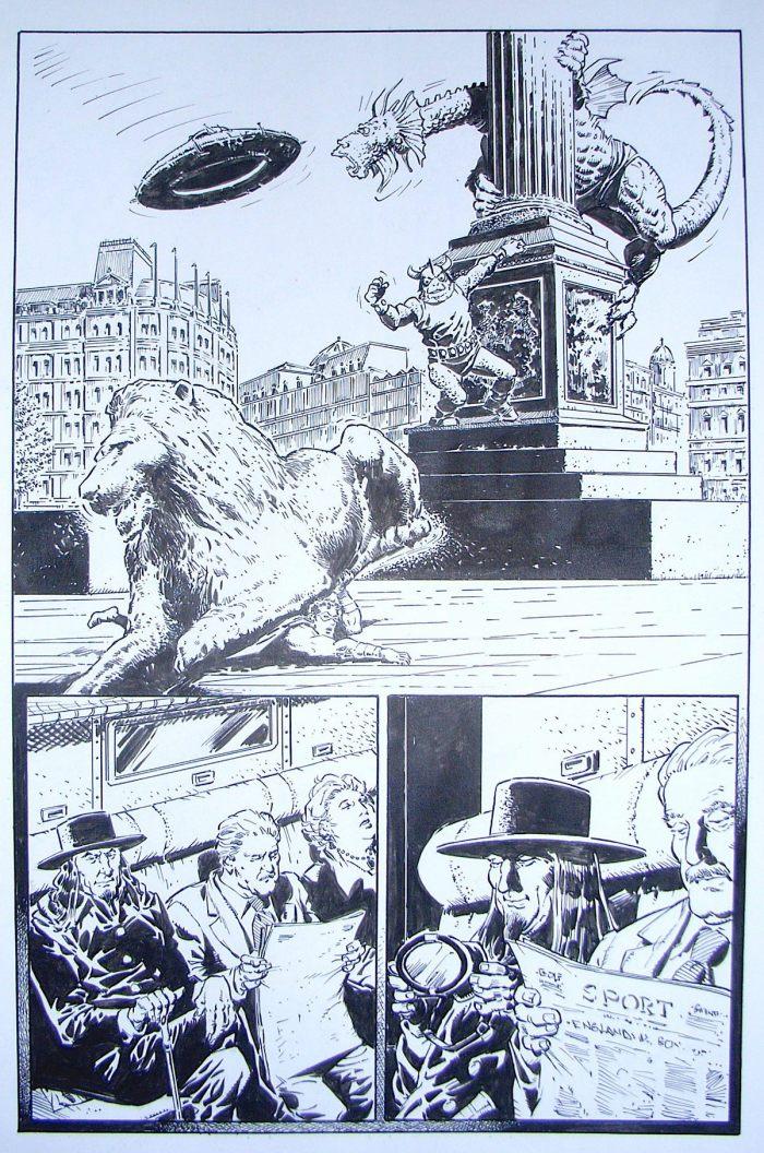 Another page from The Golden Grenadier, introducing the series villain. With thanks to Tim Quinn