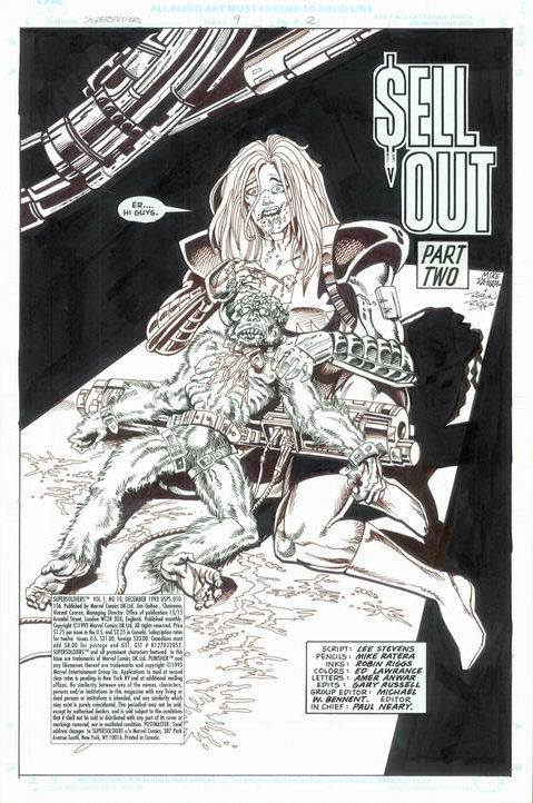The opening page of Marvel UK's unpublished Super Soldiers #9. With thanks to Adrian Clarke