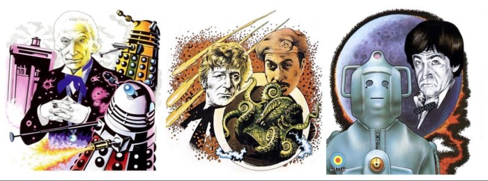 Doctor Who Target Books art by Chris Achilléos - Montage