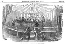 "The ""Dinner in the Iguanodon Model"" is the best known story about the work creating the Crystal Palace Dinosaurs. It took place on New Year's Eve 31st December 1853 and was immortalised in the picture published in Illustrated London News, 7th January 1854"