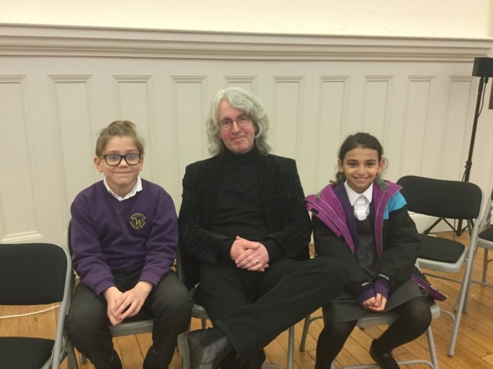 "Tim Quinn with two Whtefield Primary wonders in Liverpool, about to create with ""Liverpool Heartbeat Magazine"". Coming slightly late but soon in early March 2020"