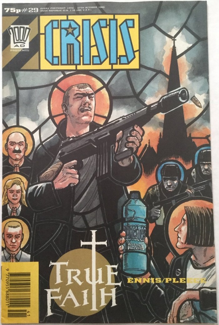 Crisis #29 - Cover featuring True Faith by Garth Ennis and Warren Pleece