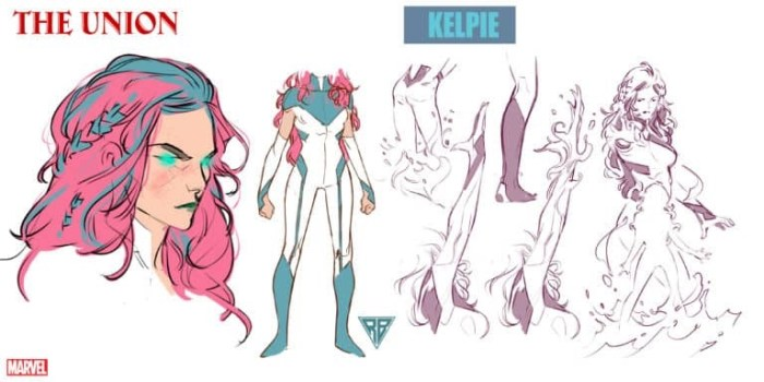 Character design for Marvel Comics The Union's Kelpie by R. B. Silva