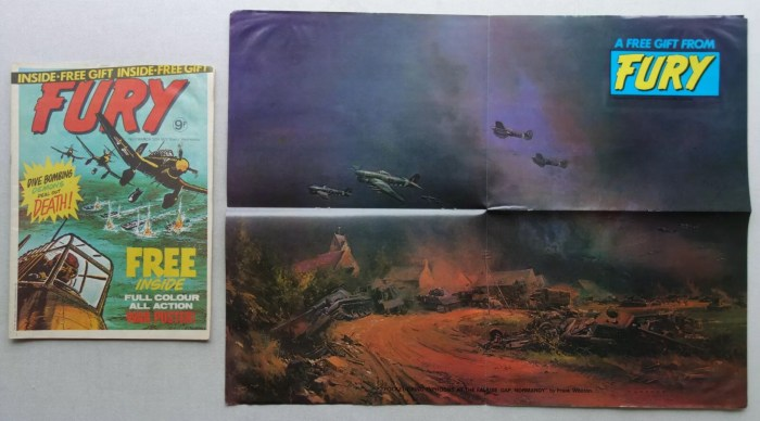 Marvel UK's Fury Issue, cover dated 30th March 1977, with free poster gift