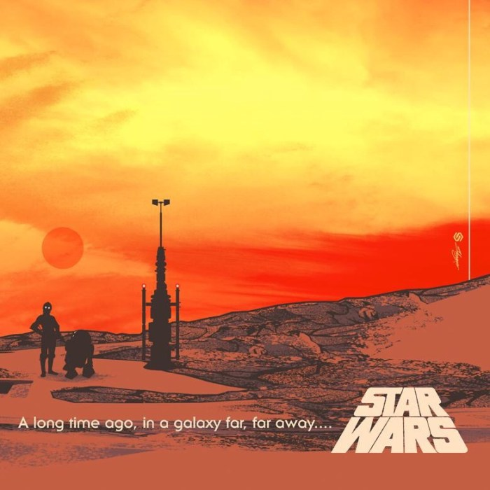"Detail from ""Binary Star"", Guy Stauber's Official, Original Star Wars Poster"