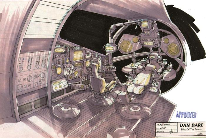 Kingfisher cockpit. Concept art for Dan Dare: Pilot of the Future by Dave Max