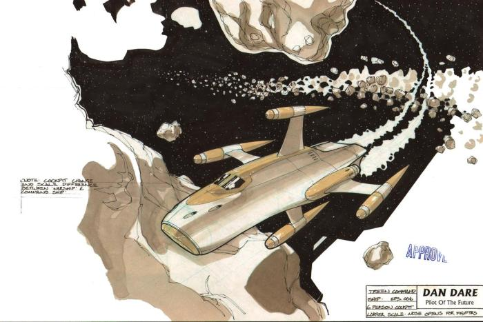 Treen Command Ship. Concept art for Dan Dare: Pilot of the Future by Dave Max