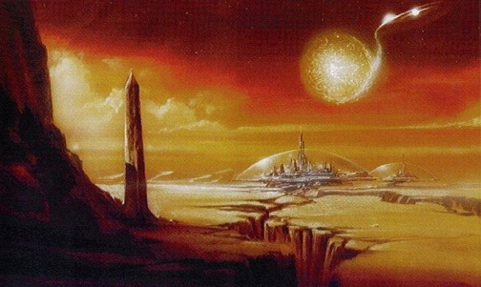 """A concept sketch of Gallifrey from """"The Leekley Bible"""""""