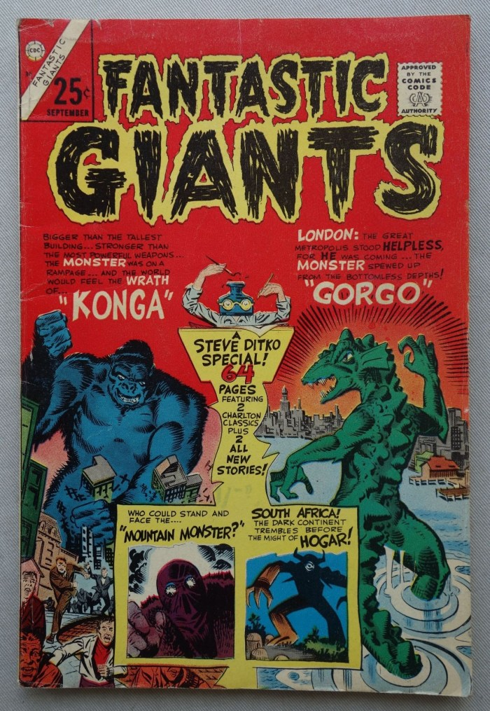 Charlton Comics Fantastic Giants comic #24  (September 1966) featuring work by Steve Ditko
