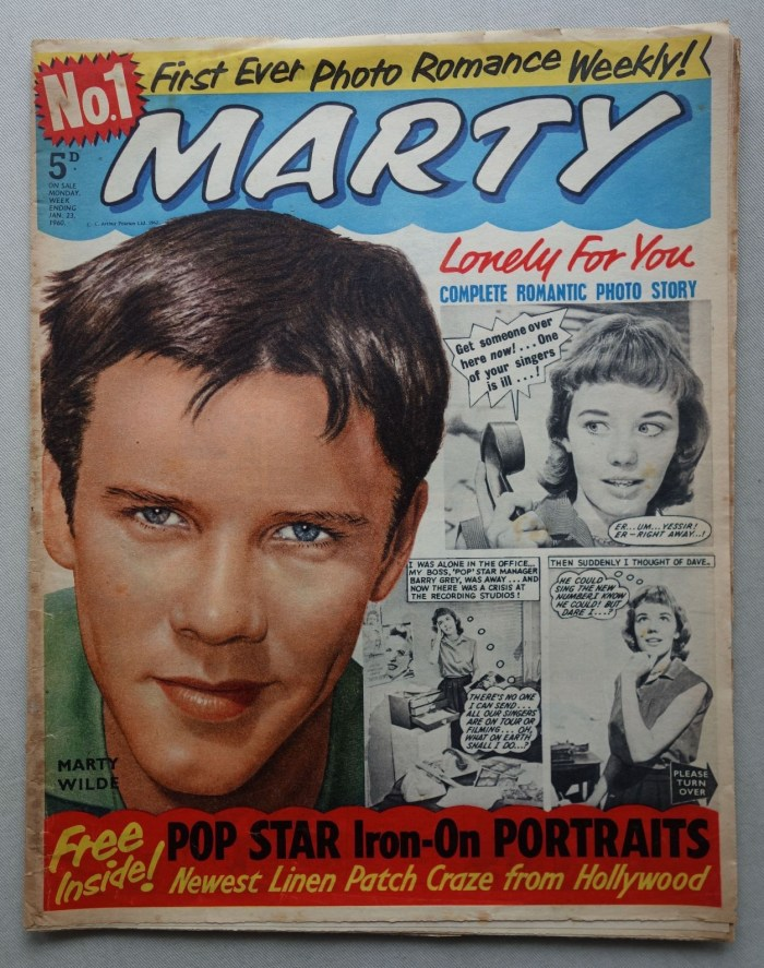 Marty comic magazine #1 - cover dated 23rd January 1960