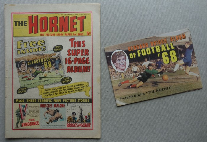 Hornet No. 261 - cover dated 7th September 1968, with free gift
