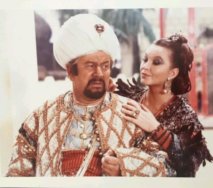 Peter Ustinov in the film The Thief of Baghdad , released in 1978
