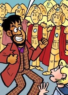 Doctor Who Magazine 551 Daft Dimension by Lew Stringer - Sneak Peek