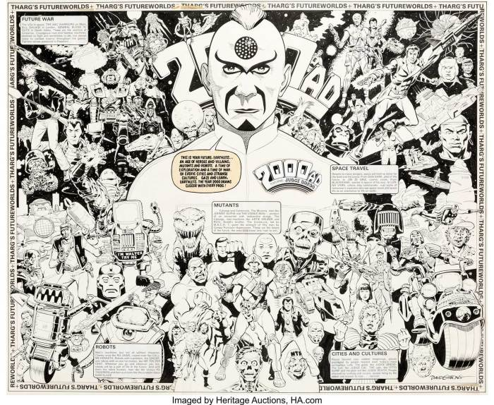 Dave Gibbons poster art for 2000AD Progs 200 - 205
