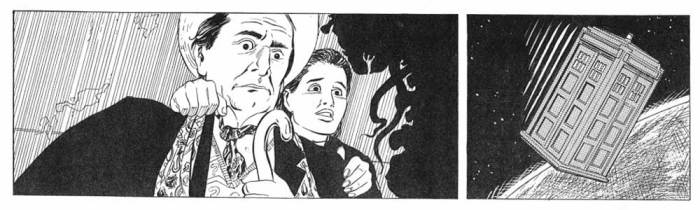 "The final inks for the opening episode of ""Doctor Who - Terror from the Deep"""
