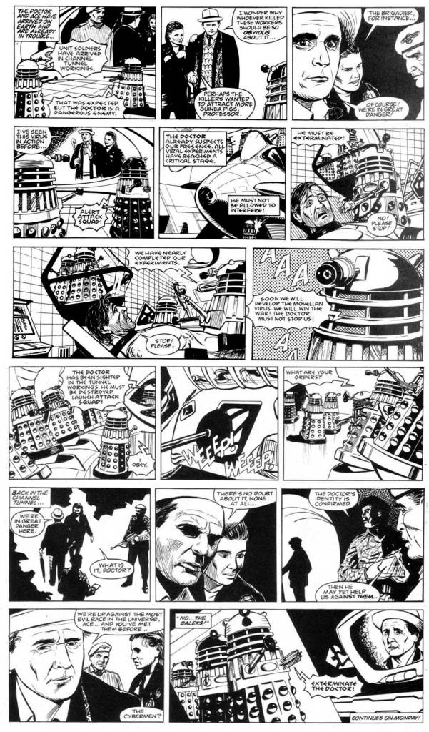 """Doctor Who - Terror from the Deep"" - Lettered"