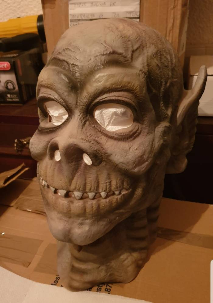 The Cesar mask used to create Doomlord's distinctive look. With thanks to Isidro Campos