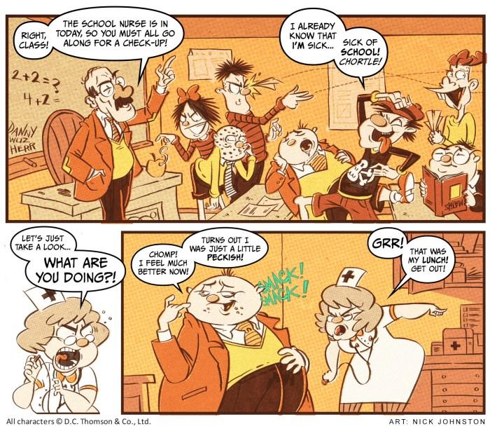 Dundee Comics Masters - Beano art by Nick Johnson