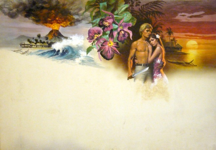Romance novel cover  - art by Hector Garrido