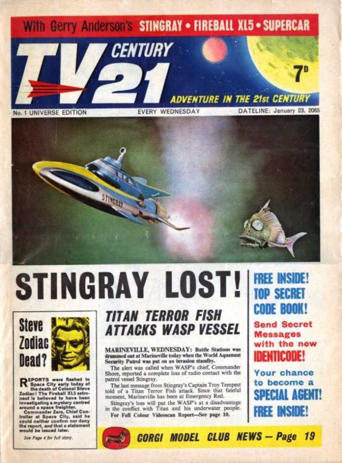 TV Century 21 Issue One - Cover Only
