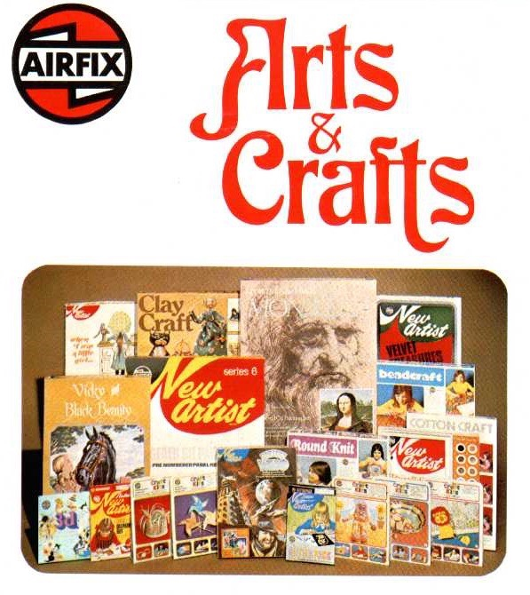 1975 Airfix Arts and Crafts Catalogue Cover