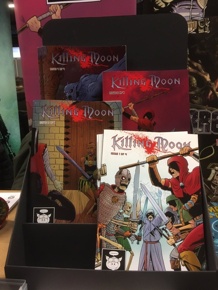 Killing Moon has proven a popular title at British comit conventions since the series launch in 2015. Photo: PigDog Press