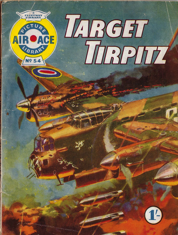 Air Ace Picture Library #54 first published June 1961. Cover art by Nino Caroselli