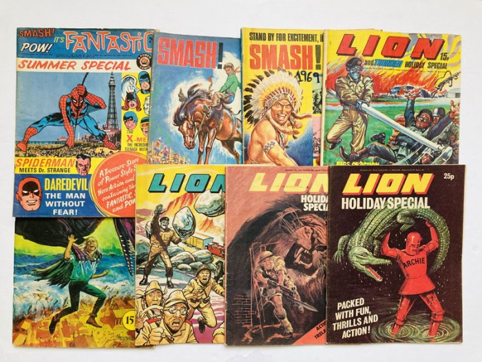 Fantastic Summer Special 1 (1968), Smash Holiday Special 1, 2 (1969, 1970). Only these two issues were published. With Lion and Thunder Holiday Special (1971, 1972), Lion Holiday Special (1974, 1976, 1978)