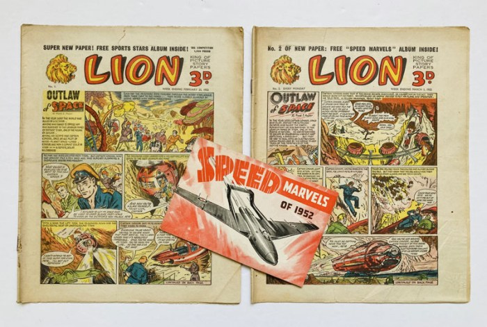 Lion (1952) 1, 2 with free gift Speed Marvels of 1952 booklet