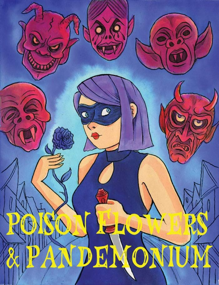 The cover of the as yet unpublished Poison Flowers and Pandemonium collection by Richard Sala