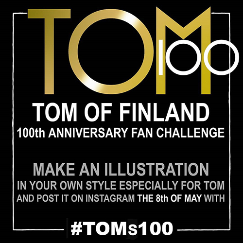 Create an illustration in your own style and post it on 8 May with #TOMs100
