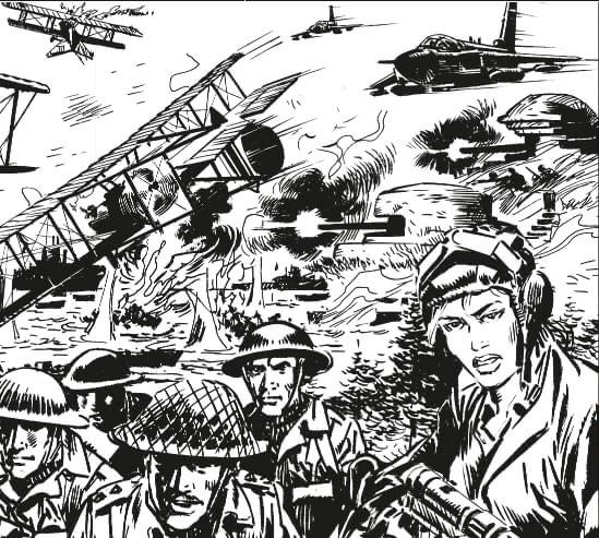 Commando art by Manuel Benet
