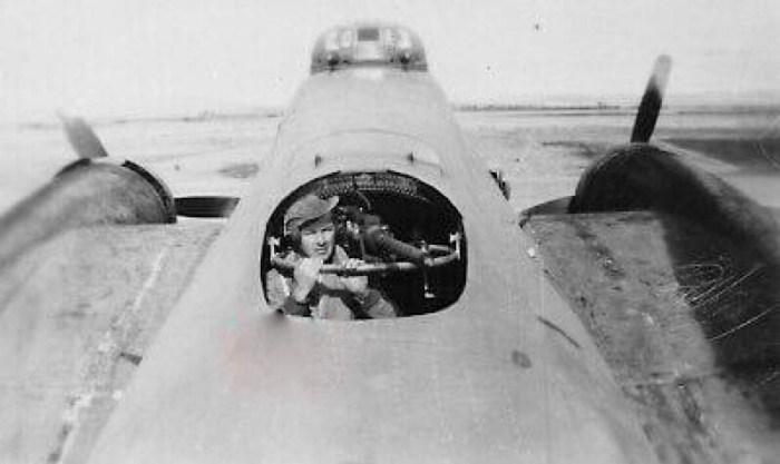 B-17  Mid Upper Position