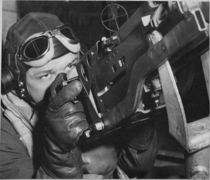 William 'Don' King, of Imperial, Texas, aboard the B-17 Invasion II
