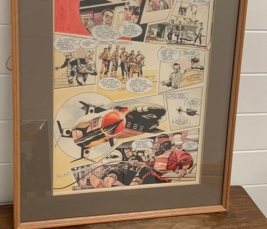 """Frank Bellamy """"Thunderbirds"""" artwork offered in upcoming British auction"""