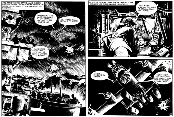 Commando 4537 - debut story, Fly Fast, Shoot First! Art by Peter Ford